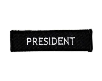President embroidered iron on patch