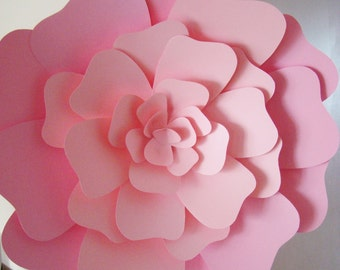 Giant 2 tone Paper Rose - Paper flowers | Paper flower | Large paper rose | Paper flower wedding | Flower wall decor | Baby Nursery decor