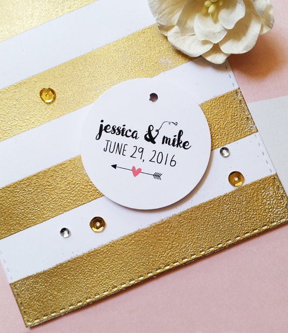 Wedding Gift Tags Nz : Wedding Favor Tags, Custom Name Tags, Bridal Shower Round Tags, Thank ...