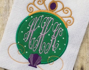 Mermaid Applique Design - Princess Applique Design - Ariel Applique Design - Monogram Frame Embroidery Design - Applique Design - Embroidery