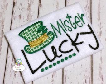 Mister Lucky Shirt or Bodysuit, St Patricks Day Shirt, St Patty's Day, Pinch Proof, St Patricks Day, Boy St Patricks Day, Mister Lucky