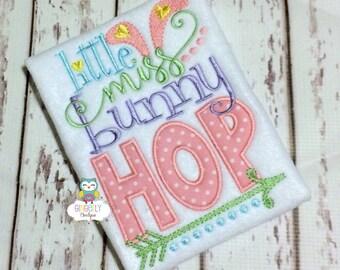 Little Miss Bunny Hop Shirt or Bodysuit, Bunny Hop Shirt, Little Miss Bunny Hop, Little Miss Easter, Girl Easter, Easter Shirt, Bunny Hop