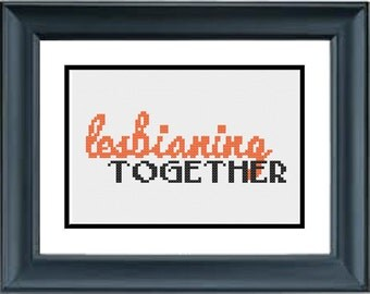 Lesbianing Together - Orange is the New Black - PDF Cross-Stitch Pattern - Netflix