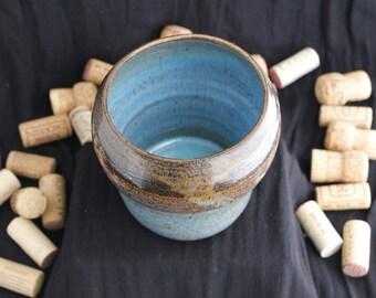 Turquoise Vase Home Decor Wheel Thrown Pottery Vessel