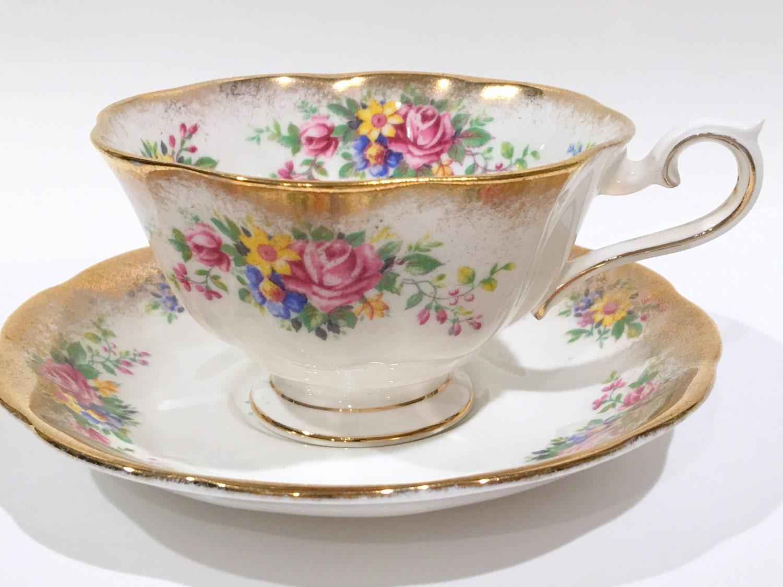 vintage tea plates