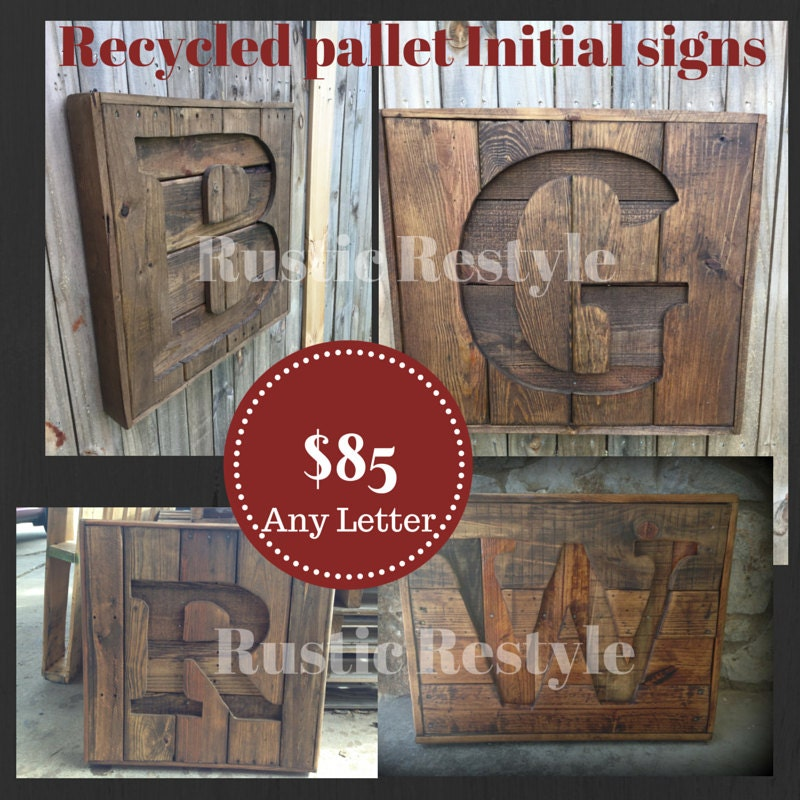 Wooden Texas Recycled Pallet Sign By Rusticrestyle On Etsy: Custom Recycled Pallet Wooden Initial Sign Wooden By