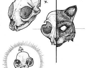 Cat skulls print