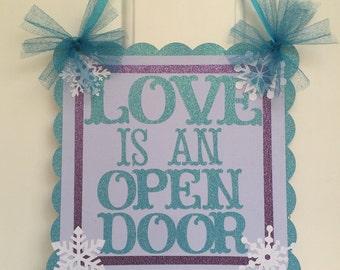 Frozen welcome door sign