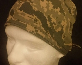 USAF Official Uniform Camo Air Force US Military Tie Back Surgical Scrub Hat