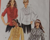 Butterick 5284 Easy to sew women's shirt pattern Uncut Sizes 8, 10, 12 and 14