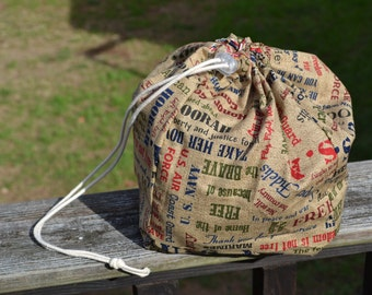 Because of the Brave Medium Drawstring Bag