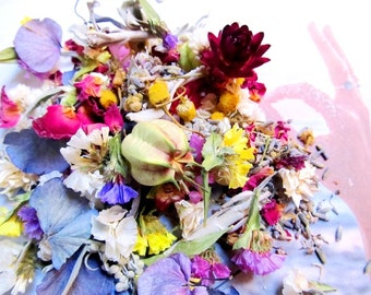Fairy Offerings, Organic, Home Grown, Herbal Blend, Cleanse Your Crystals, Faerie Magick, Bath, Incense, Altar Sprinkle, Garden Blessing