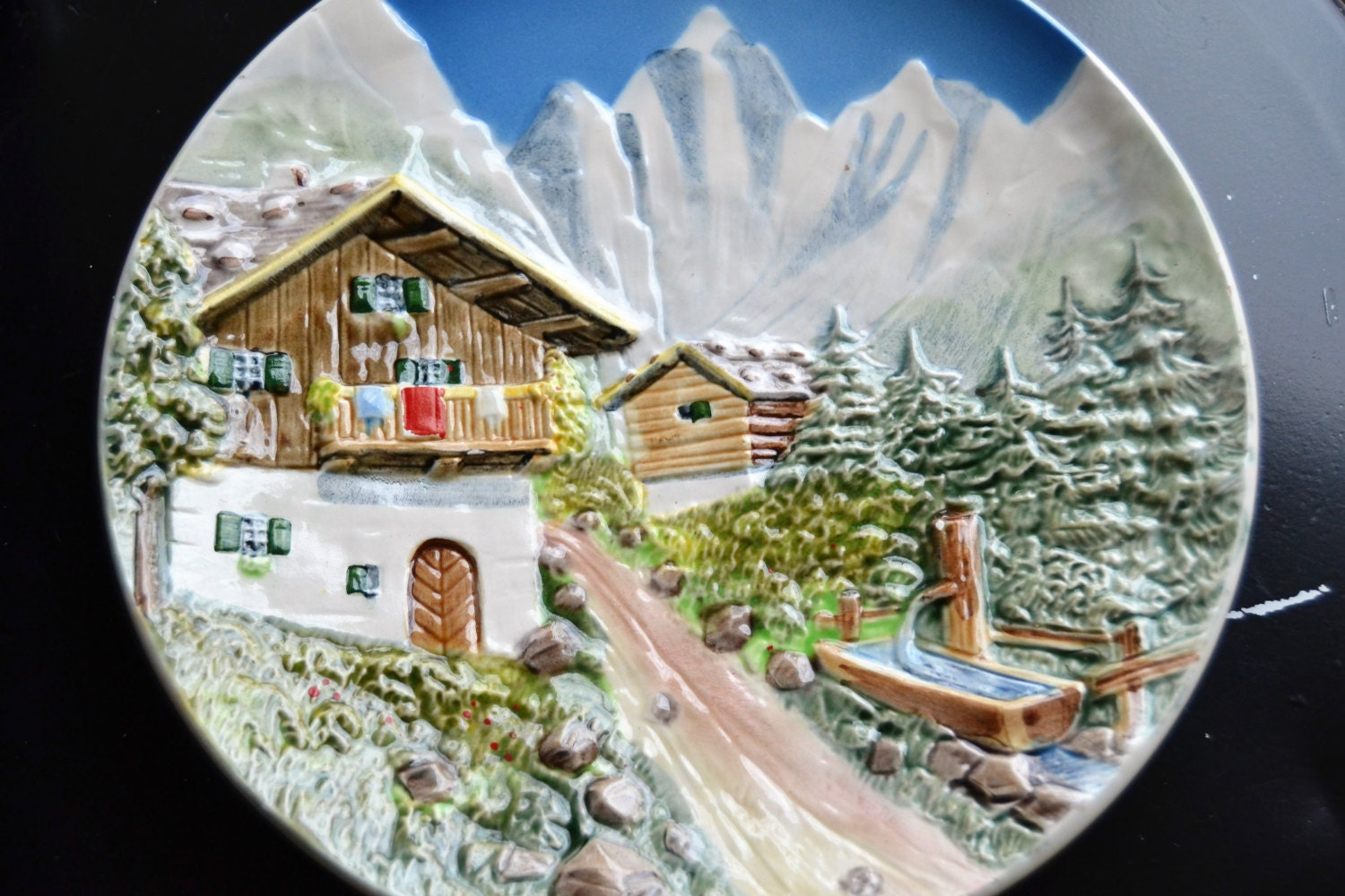 Decorative Wall Plates For Hanging: GERMAN DECORATIVE PLATE Wall Hanging Mountain Scene German