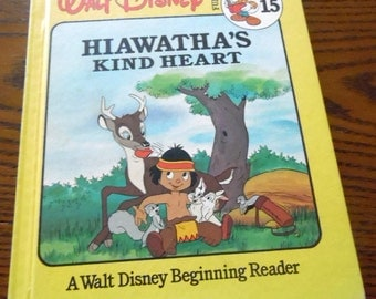 Walt Disney's Hiawatha's Heart, Fun-to-Read Library #15  1986 Hard cover
