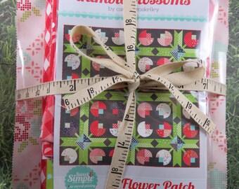 Flower Patch Quilt Pattern Fabric Kit - Moda - Bonnie & Camille - Vintage Picnic - Thimble Blossoms LARGE Quilt