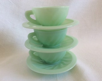 Attractive Jade green coffee cups