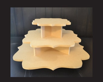 3 tier unpainted cupcake stand, cupcake holders, cupcake tower, cupcake stand, wedding cake stand, cupcake tower, F-11,17,23
