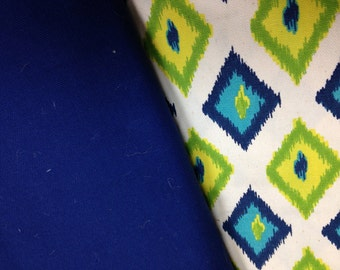 Premier prints Premier Prints Carnival Sunshine/Natural/Royal Blue cotton canvas/12oz royal blue canvas/royal blue fabric/royal blue