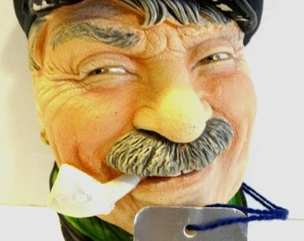 Vintage Bargee Character Chalkware Legend Hand Painted Model Barge Man England