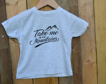 Take me to the Mountains Kids Tee, Mountain baby, Baby Shower Gifts