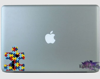 Autism Puzzle With A Child and A Balloon Vinyl Decal Sticker