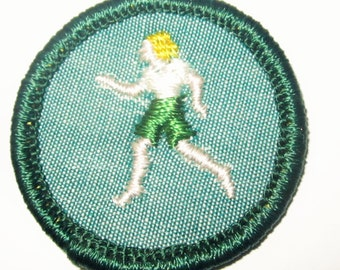"Vintage Intemediate Girl Scout Badge ""Athlete"" circa early 1960's"