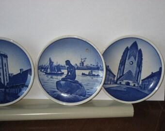 Denmark miniature Delft plates (3 pieces)