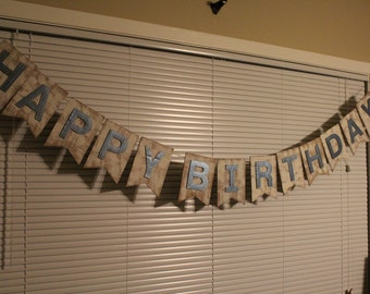 Happy Birthday Banner - SALE