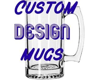 Custom glass Mug design