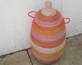 Laundry room, Clothes Basket, Laundry Sorter, African Basket, resistant basket.