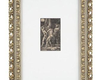 Albrecht Durer - The Flagellation -Original 16th century woodcut engraving original 1512 watermark paper