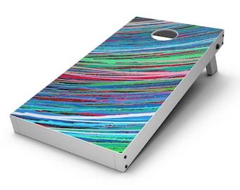 Colorful Strokes - Cornhole Board Skin Kit
