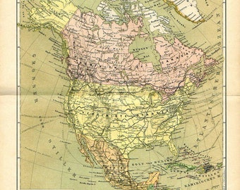 United States Of America Map 1893 Countries Nations Atlas Antique Map 12 X 9