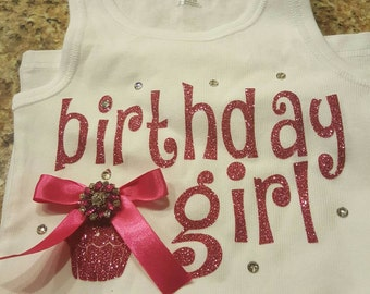 Adorable Birthday Girl Tank Top or Shirt
