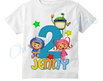 Team Umizoomi Custom T-Shirt, PERSONALIZE with Name, Perfect Birthday Gift!