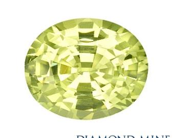 1.92 Carat Yellow Sapphire, Oval cut Sapphire, Loose Sapphire Gemstone, Yellow Gemstone, Non Heated Real Sapphire