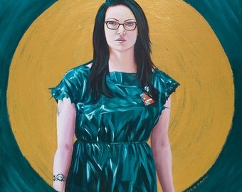 Alex Vause original painting, Orange is the new black
