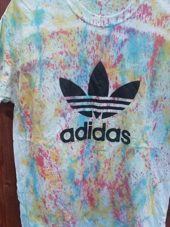huge discount cdb58 7592d 30%OFF Diy customised adidas tie dye t shirt top by mysticclothing