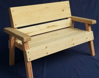 Delightful DIY Project, Unfinished Kids Solid Wood Bench, Toddler+ Boy Or Girl, Childrens  Furniture