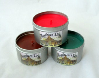 4 oz soy candle tins, container candle, tin candle, soy wax candle, scented candle, candle tin, travel candle, candle, scented candle