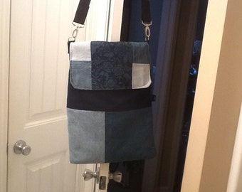 Denim Crossbody Hobo Bag