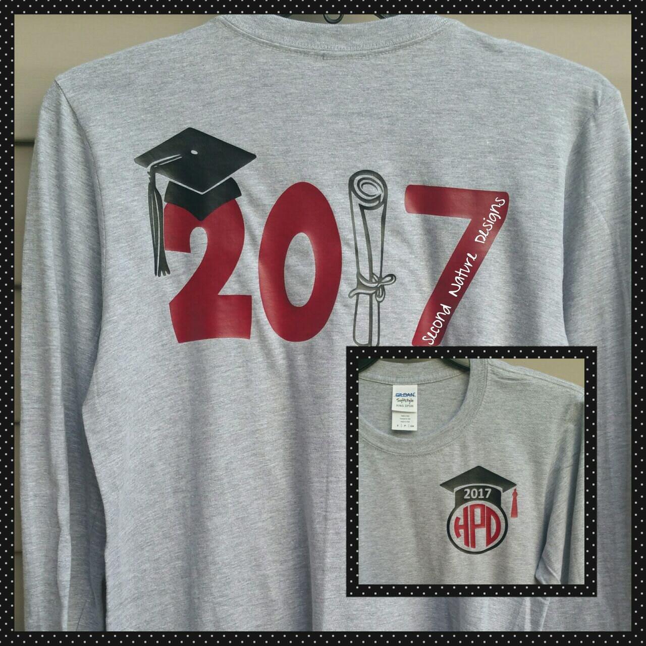 2017 High School Or College Graduate T Shirt Monogram