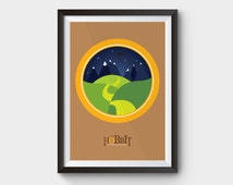 """THE HOBBIT - An Unexpected Journey - A3 (12x16"""") movie, film poster, print, minimalist, peter jackson, bilbo baggins, lord of the rings"""