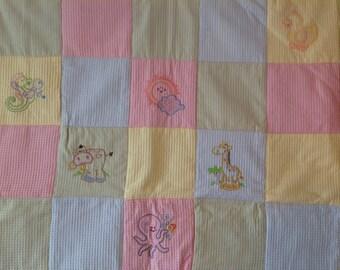 Animal Farm Baby Quilt