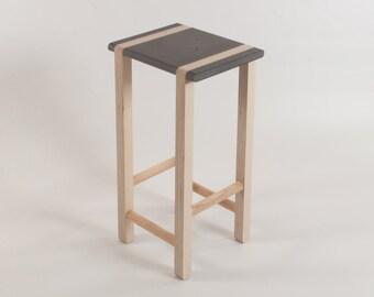 Serif Bar Stool - Kitchen Worktop or Standing Desk - Birch Plywood - Valchromat - Ash