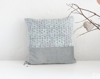 Light blue gray cuddly pillow