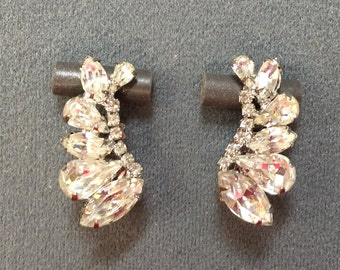 Nice Clear Rhinestone Clip Earrings - Free shipping