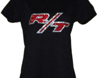 Dodge Challenger Charger R/T Women's Black T-shirt