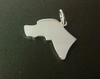 Pointer ( English) profile Stlering Silver Pendant
