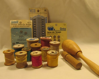 WOODEN SPOOLS, ETC